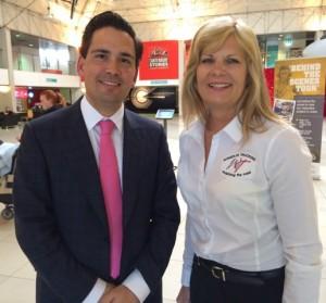 Ellen Voie and Simon Bridges, New Zealand Minister of Transport