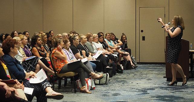 Kelli Radi speaking about empowering women