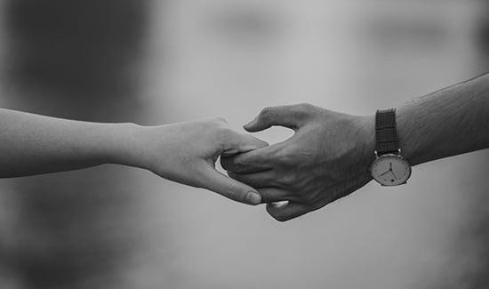 hand-holding-bw