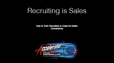 Recruiting is Sales