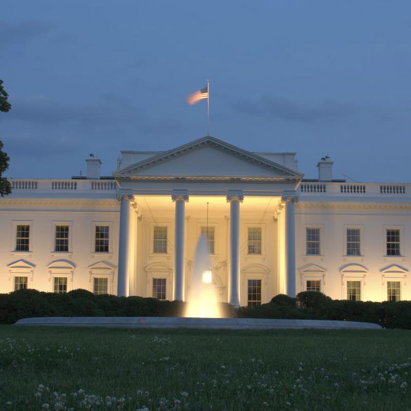 white house timeline