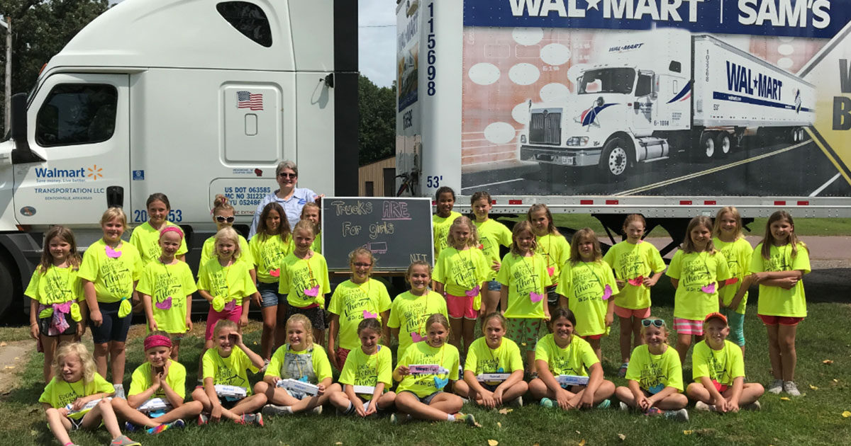 National Transportation Institute Day of Service Inspires Girl Scouts to Learn About Trucking