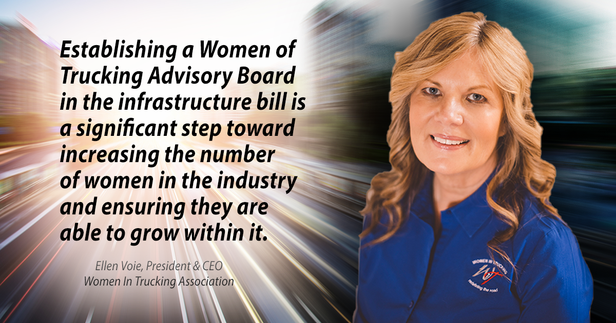 Women In Trucking Association Hails Inclusion of Gender Diversity Measures in Infrastructure Package